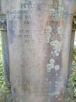 Headstone of Peter COMRIE and his family