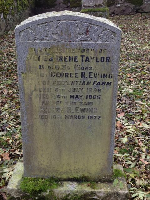 Headstone of Agnes TAYLOR and George EWING
